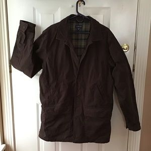 Lands End Brown Barn Coat, XLTALL